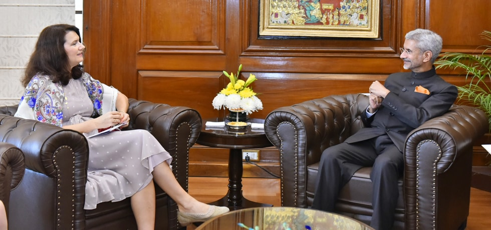 External Affairs Minister meets Ann Linde, Foreign Minister of Sweden in New Delhi