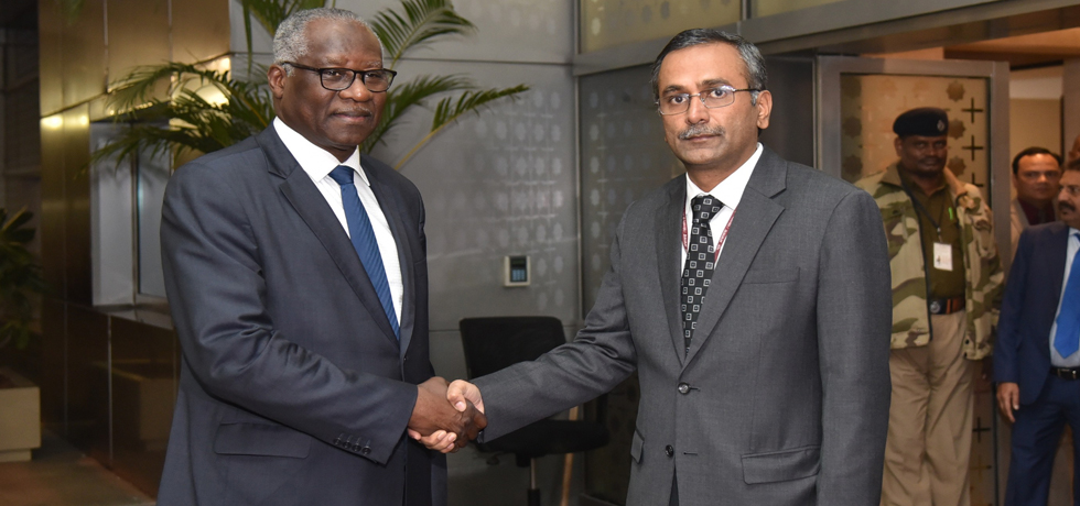 Mamadi Toure, Foreign Minister of the Republic of Guinea arrives in New Delhi