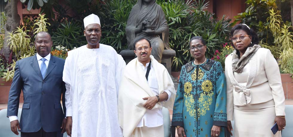 Minister of State for External Affairs meets the Cameroon Parliamentary Delegation in New Delhi