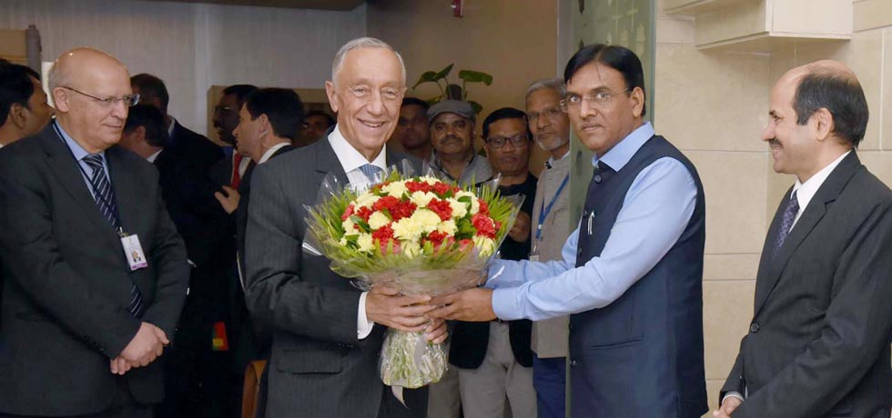 Marcelo Rebelo De Sousa, President of Portugal arrives in New Delhi[ph]Photo Courtesy: Photo Division[/ph]