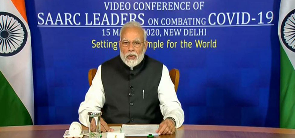 Prime Minister delivers his remarks during the Video Conference of SAARC Leaders on combating COVID-19