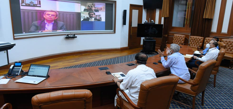 External Affairs Minister's video conference with the Heads of Indian Missions[ph]Photo courtesy - Chandan Kumar Shah[/ph]