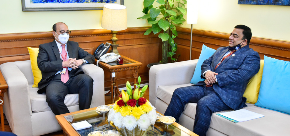 Foreign Secretary meets Dr. Benazir Ahmed, Inspector General of Police, Bangladesh in New Delhi