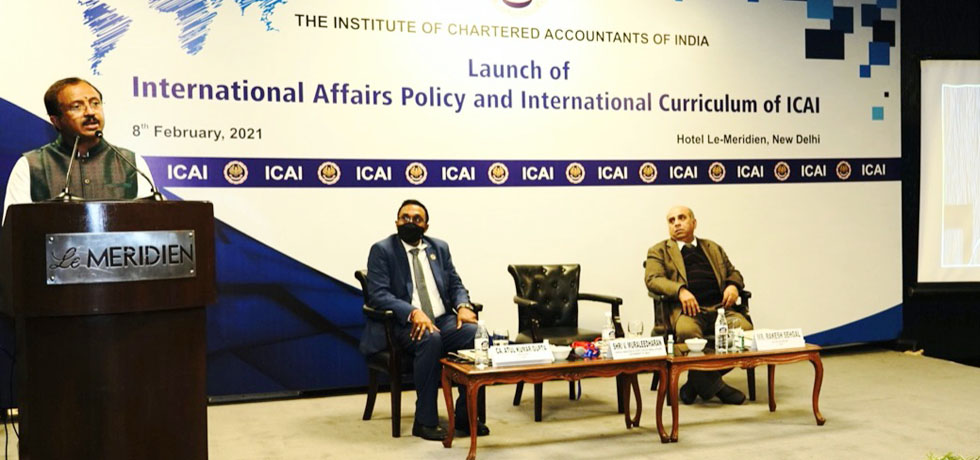 Minister of State for External Affairs at ICAI event in New Delhi