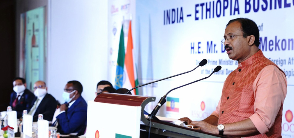 Minister of State for External Affairs at the India-Ethiopia Business Forum