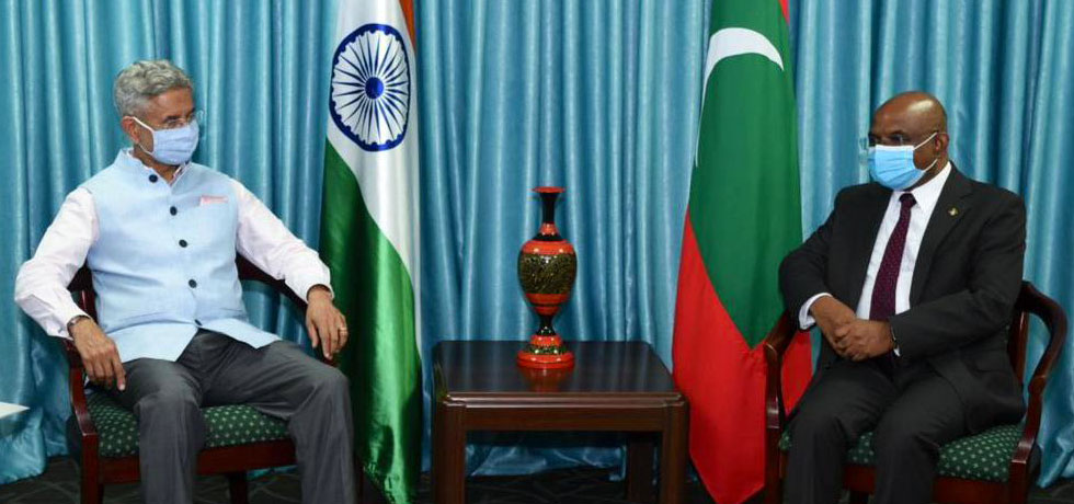 External Affairs Minister meets Abdulla Shahid, Foreign Minister of Maldives in Male