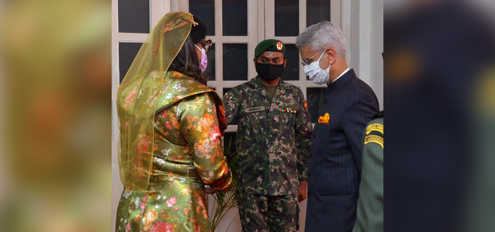 External Affairs Minister meets Mariya Didi, Defence Minister of Maldives