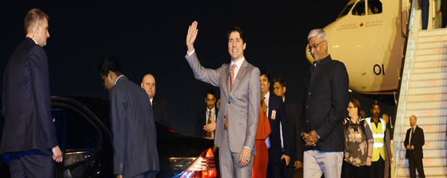 State Visit of Prime Minister of Canada to India (February 17-24, 2018)