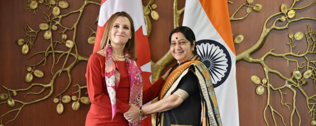 Visit of Minister of Foreign Affairs of Canada to India (February 21-24, 2018)