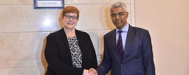 Visit of Minister for Foreign Affairs of Australia (January 07-09, 2019)