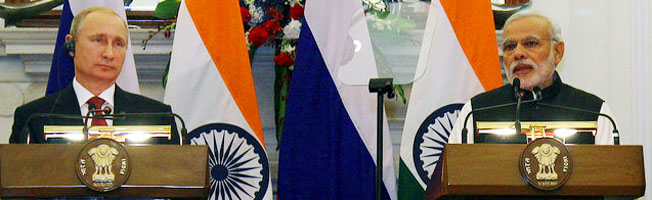 Official Visit of the President of the Russian Federation to India (December 10-11, 2014)