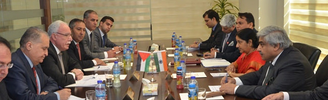Visit of External Affairs Minister to Palestine (January 17, 2016)