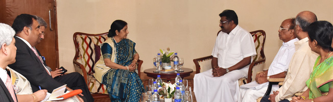 Visit of External Affairs Minister to Sri Lanka (February 05-06, 2016)