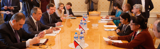Visit of External Affairs Minister to Russia (April 17-19, 2016)