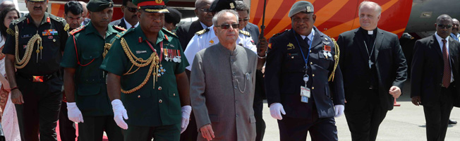 Visit of President to Papua New Guinea (April 28-29, 2016)