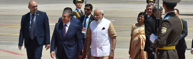 Visit of Prime Minister to Uzbekistan (June 23-24, 2016)