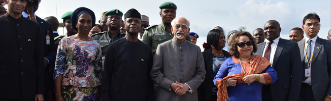 Visit of Vice President to Nigeria (September 26-29, 2016)
