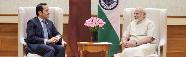 Visit of Minister of Foreign Affairs of the State of Qatar to India (August 25-26, 2017)