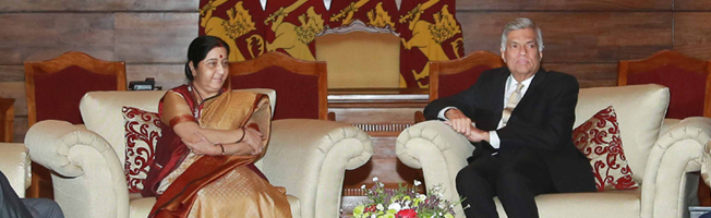 Visit of External Affairs Minister to Sri Lanka ( August 31- September 1, 2017)