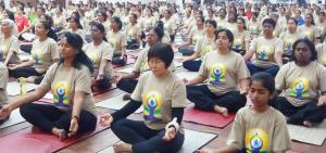 Over 500 participants took part in yoga demonstration at Klang, Selangor, Malaysia