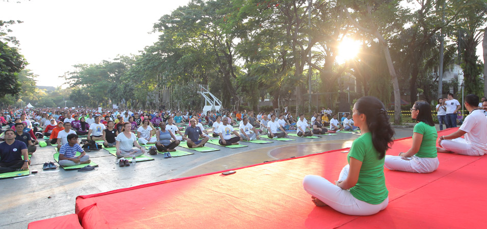 Celebrations of the 3rd International Day of Yoga take place in Jakarta