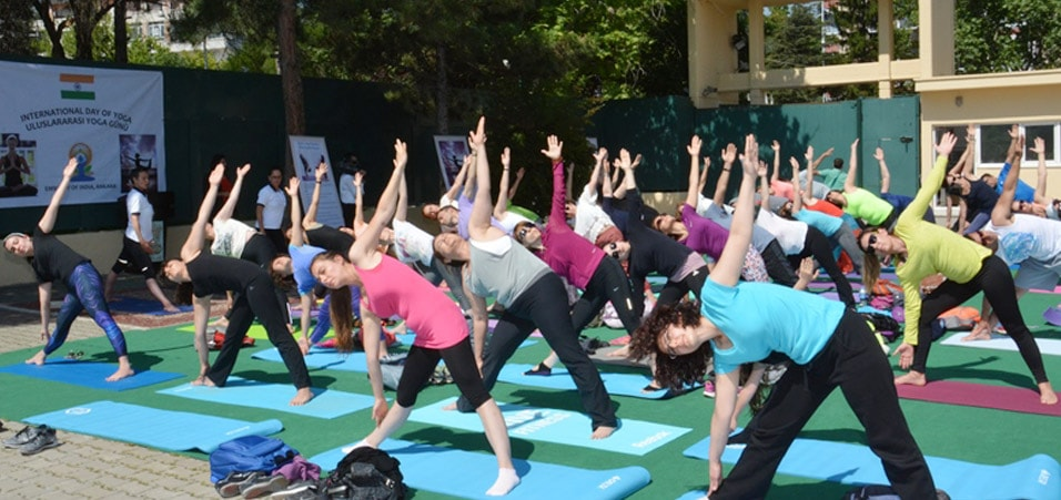 Yoga Day celebrations in the premises of Embassy of India, Ankara