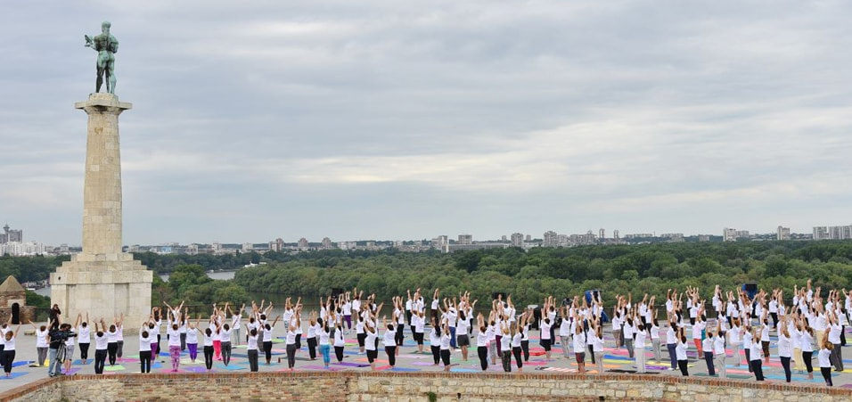 International Day of Yoga celebrations at Belgrade, Serbia