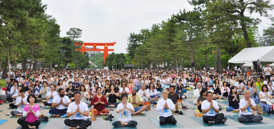 3rd International Day of Yoga celebrated in Kyoto