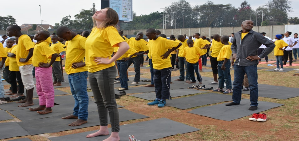 Celebrations of the 3rd International Day of Yoga takes place in Kenya