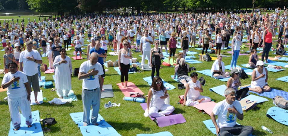 Celebrations of Flagship Yoga Event in Brussels, Belgium