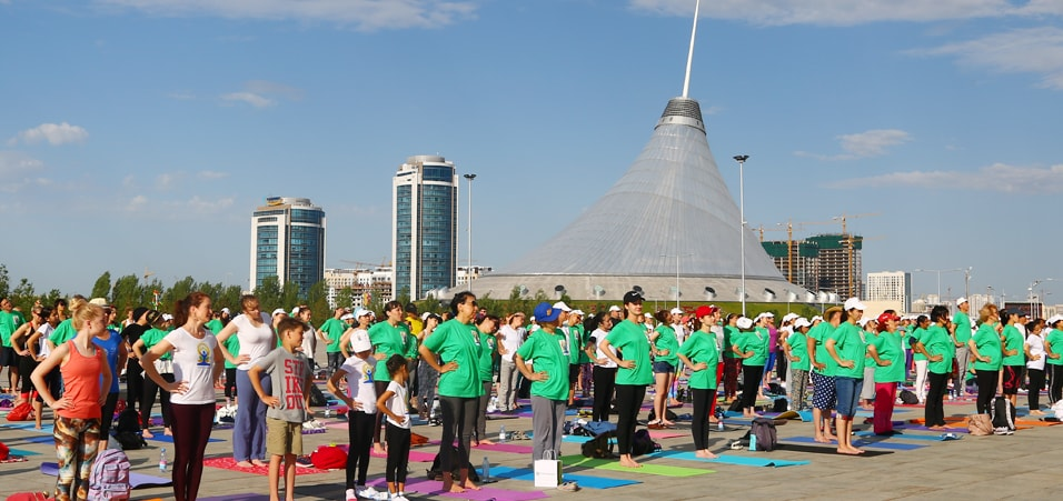 Celebrations of the 3rd International Day of Yoga take place in Astana