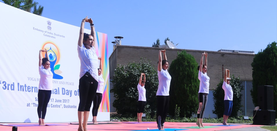 Celebrations of the 3rd International Day of Yoga take place in Tajikistan