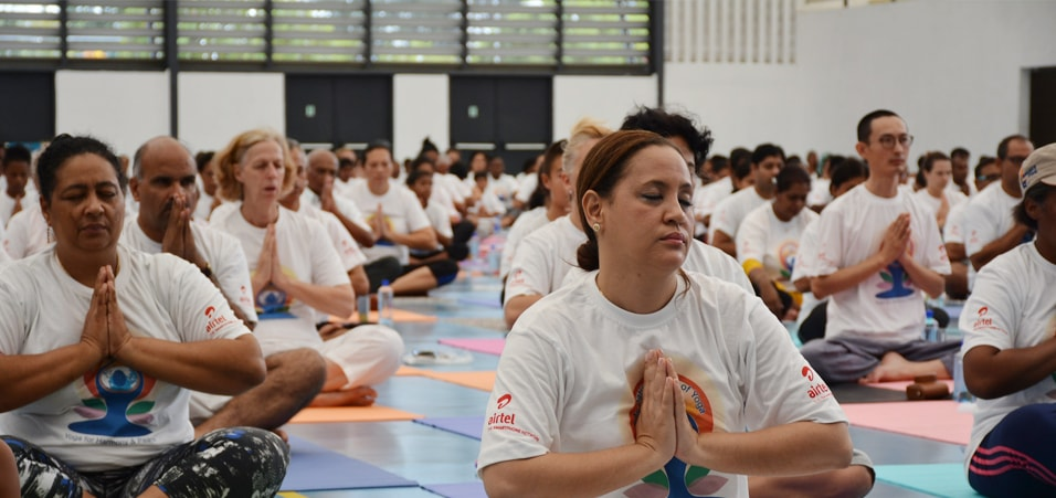 Celebrations of International Day of Yoga 2017 take place in Seychelles