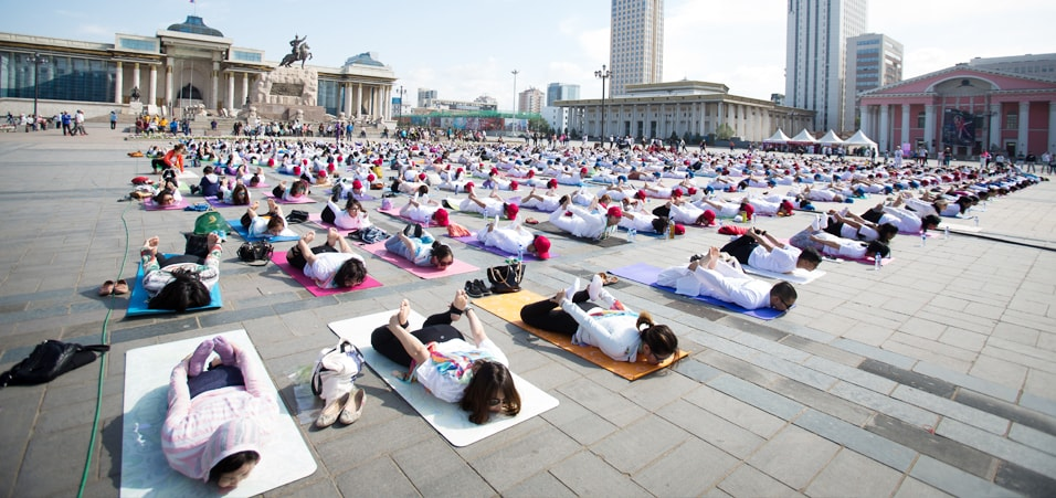 Celebrations of the 3rd International Day of Yoga take place in Mongolia