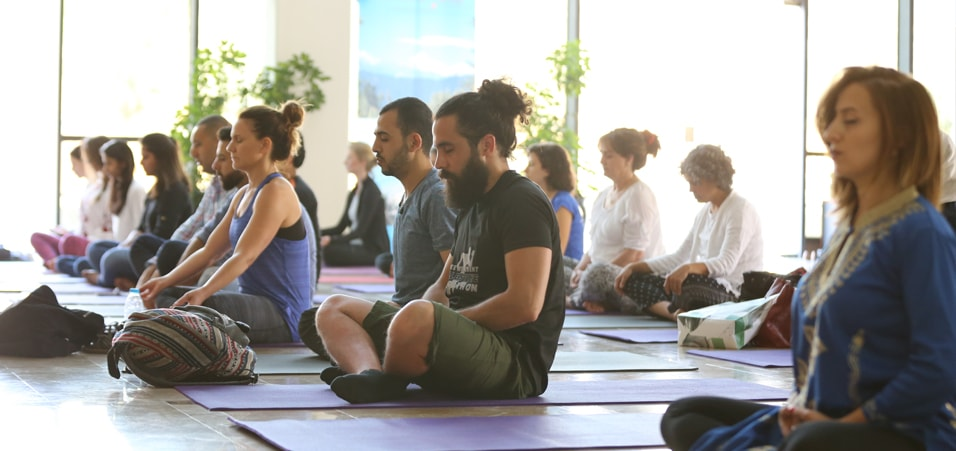 Yoga Session at Ministry of Foreign Affairs in Ramallah, Palestine