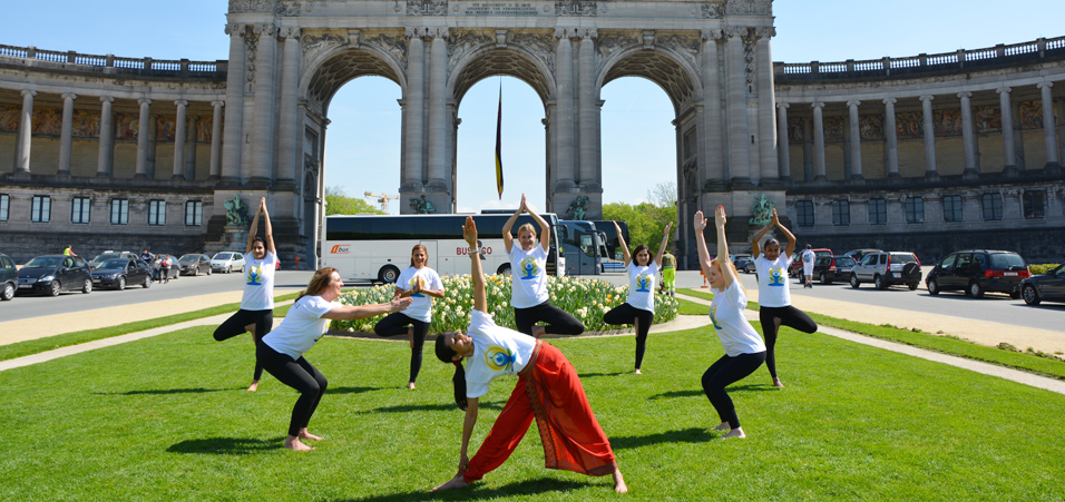 4th International Day of Yoga celebration in Brussels, Belgium