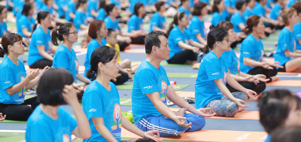4th International Day of Yoga celebration in Hanoi, Vietnam