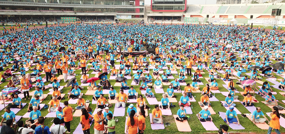 4th International Day of Yoga celebrations by High Commission of India, Dhaka in Bangladesh