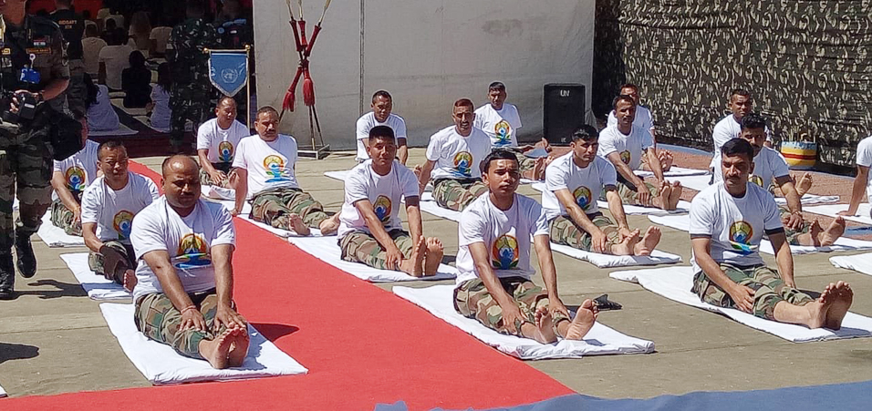 The Indian Battalion (INDBATT) in the United Nations Interim Force In Lebanon (UNIFIL) celebrated the 4th International Day of Yoga with Embassy of India, Beirut in Lebanon