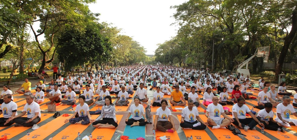 4th International Day of Yoga celebrations in Jakarta