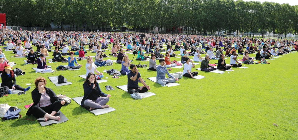 Embassy of India, Paris organises 4th International Day of Yoga at La Villette, Paris