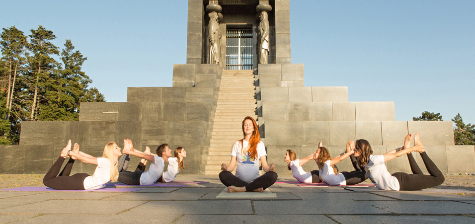 Celebrating 4th International Day of Yoga at historic Avala Monument in Belgrade, Serbia