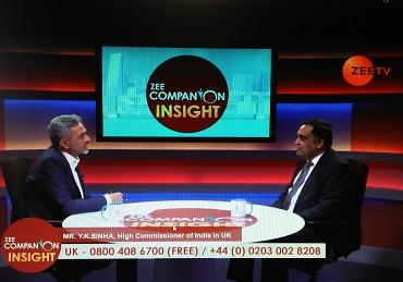 Interview of High Commissioner Mr Y.K. Sinha to Zee TV London on January 16, 2018. (U...