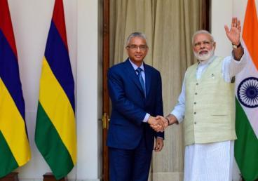 Prime Minister of Mauritius Mr. Pravind Jugnauth, during to his visit to India, calls on the Prime Minister of India, Shri. Narendra Modi. (May 2017)
