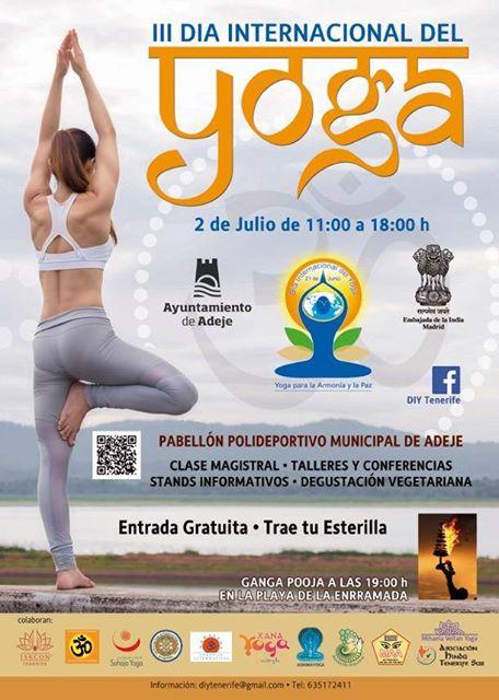 Poster  Celebration of International Day of Yoga in Adeje 9bd20ffc72be