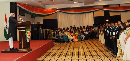 Vice President addresses the Indian community in Kigali during his three day visit to Rwanda