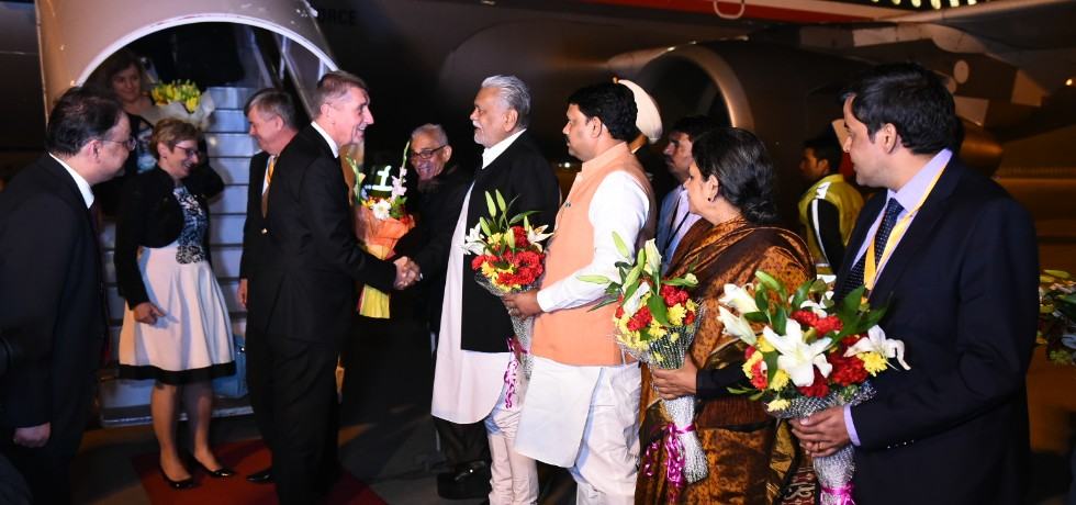Andrej Babis, Prime Minister of Czech Republic arrives in Ahmedabad to attend Vibrant Gujarat Summit