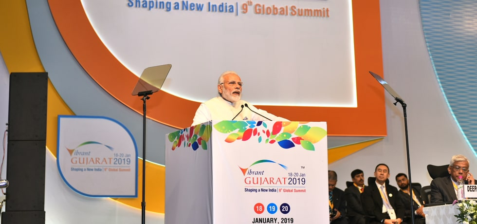 Prime Minister addresses the Inaugural Session of Vibrant Gujarat Summit 2019