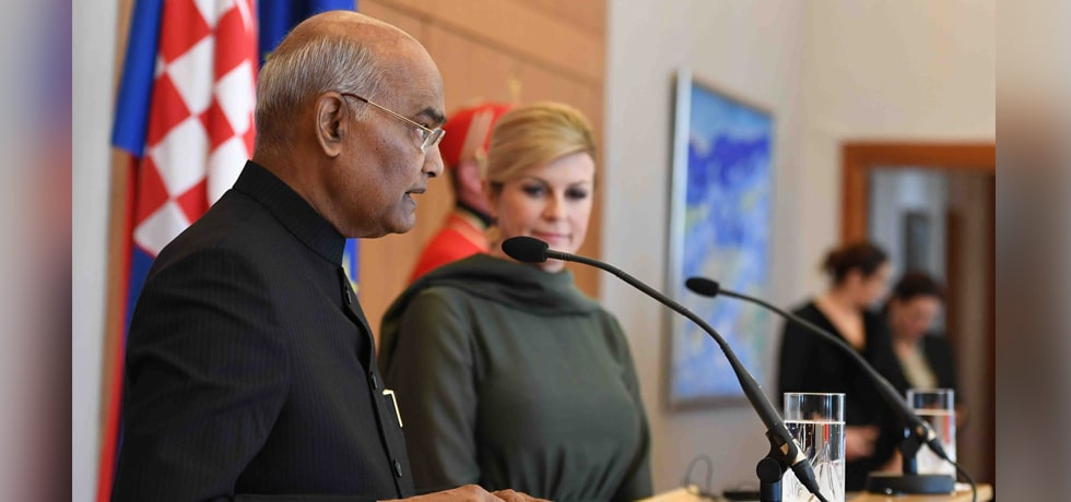 President delivers Press Statement during his State Visit to Croatia