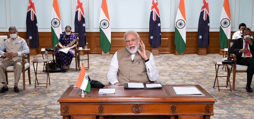 Prime Minister participates at India-Australia Virtual Summit
